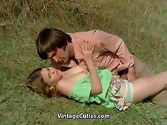 Boy Tries to Lure teen in Meadow (1970s Vintage)