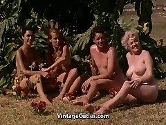 Nude Girls Having Fun at a Nudist Resort (1960s Vintage)