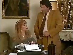 Hottie office secretary Babette gets fucked by her bosses and her acquaintance