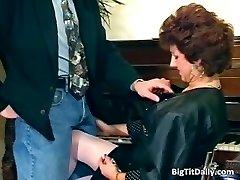 Nasty MILF maid bj's on her bosses part5