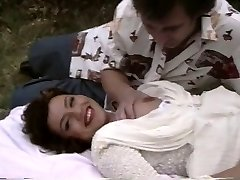 Retro pornography shows a plump chick getting pounded outside