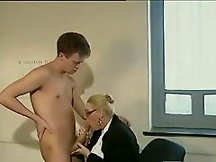 Ample dick fellow fucks a mature secretary