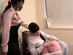 Domina Knows Best - Stringent woman schoolteacher spanking
