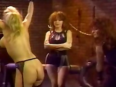 Retro Lesbo Group Spanking