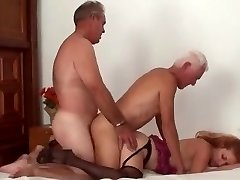 Mature Ambidextrous Couple Threesome