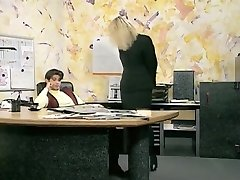 Incredible amateur Office, Stockings hook-up clip