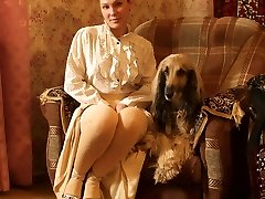 The damsel with the dog
