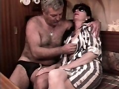 Antique French sex video with a mature wooly couple