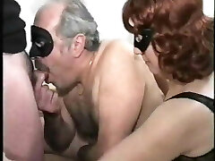 old duo with bisex young male, mmmm, vintage