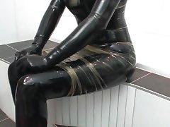Loving the latex dick play