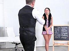 A teacher gives an English class to Daphne Klyde she won't