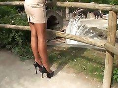 LGH - Tamia mit meia-calça e Salto Alto Bombas de im