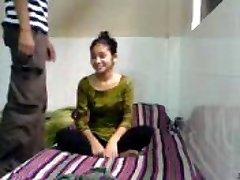 Harmless Indian Coed Sucks Fucks in BFs Dorm Bedroom