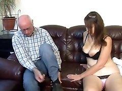 German grandpa makes youthfull girl horny