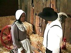 Amish çiftçi siyah bir hizmetçi annalizes