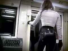 Railing the subway in latex