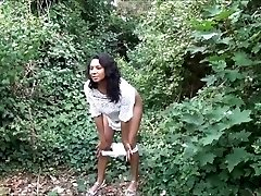 Demonstrating ebony milf Mels black public nudity and outdoor upskirts escapade
