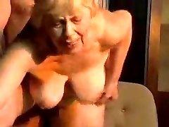 Blonde round grandma.