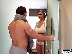en mycket het scen där julia ann och hennes älskare har sex i duschen