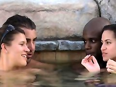 Interracial orgy with horny swingers