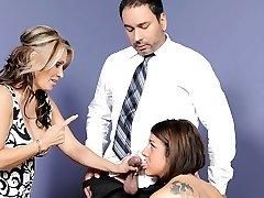 Selena Skye, Sasha Sky in Mothers Training Daughters How To Deepthroat Cock #03, Scene #03