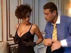 Glamorous French babe milks a ample cock!