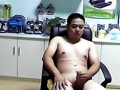 chinese bear boy jerkoff money-shot