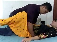 Indian hindi stepsister dry hump with stepbrother (Hindi )