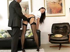 UK milf nurse seduces lucky british elderly