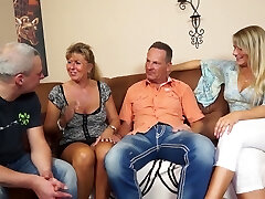 Mature married couple is blessed to enjoy swinger sex for orgasm