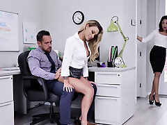 isabelle дельторе, isabella miło wewnątrz biura seks broić