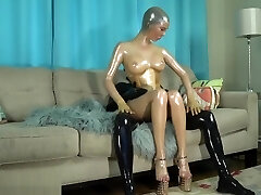 Stroked by the Golden Rubberdoll