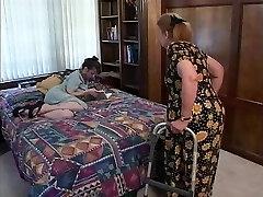 Elderly brunette hair indulges in hawt oral pleasure sex