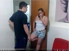 Webcam Ejaculation in front of notbrother