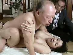 Hardcore grandpa tears up young babe