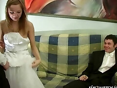 Sexy Bride gets porked by two groomsmen