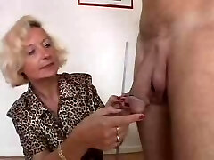 Italian Granny likes 2 cocks