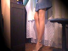 Webcam cum em meias