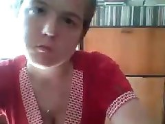 Russian girl flashing on cam