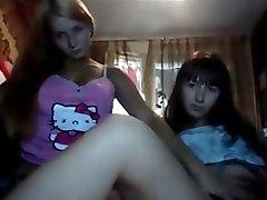 Two 19yo Russian chicks on cam