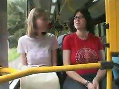 Oeffentlicher Nahverkehr ! Fuck in a public Bus !