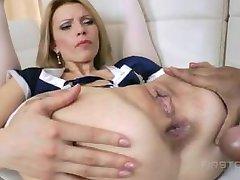 blonde pounded amd gaped