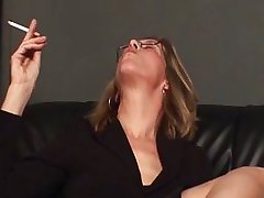 Mature mom punishing her male slave