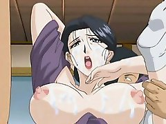 Big titted hentai babe gets dripping ass and cunt fucked