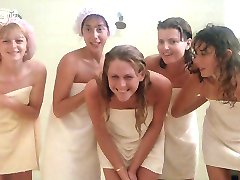 Porkys - Voyeur gloryhole shower scene (solo girls)