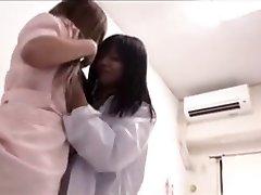 asiatiska lesbiskt läkare