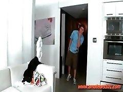 With Homies Mum In Bathroom