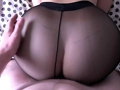Girl with big butt fucking in stockings.