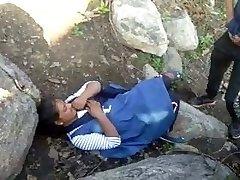 Caught Village Paki Couples Outdoor Screwing
