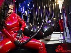 extreme rubber bondage by Mistress Kim